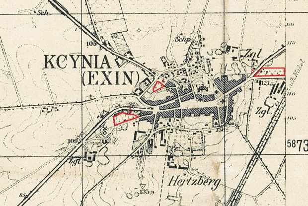 Plan miasta Kcynia z 1934r.