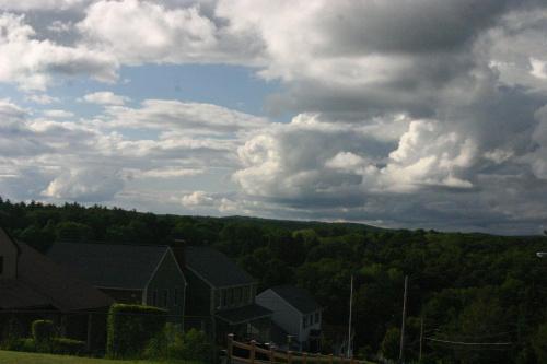 #chmury #niebo #drzewa