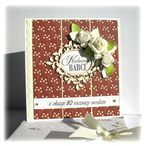 #kartka #życzenia #kwiaty #DlaBabci #DzieńBabci