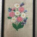 Obrazek, haft płaski, stokrotki #stokrotki #kwiaty #HaftPłaski #obrazek #obraz #rękodzieło #RobótkiRęczne