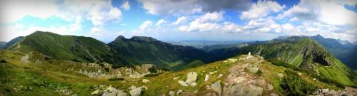 W drodze z Kasprowego na Giewont (Tatry) #giewont #góry #KasprowyWierch #panorama #tatry #zakopane