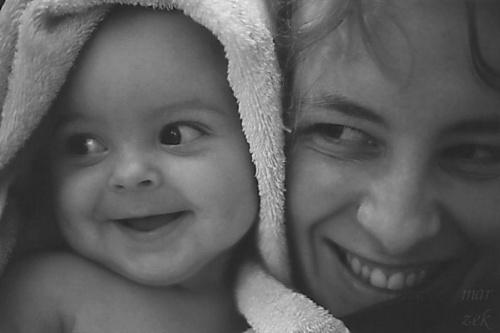 Panna Aga z mamą #portret #dziecko #matka