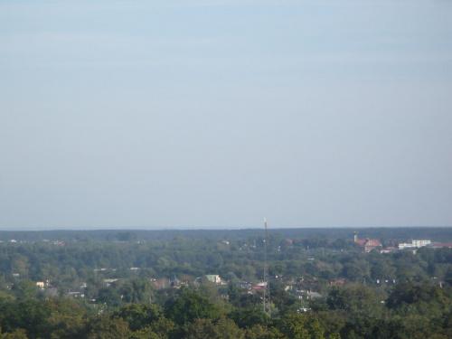 Garb Gielniowski (Przysucha) widoczny z Tomaszowa Mazowieckiego 46-51 km #GarbGielniowski #Przysucha #wzgórza #TomaszówMazowiecki #panorama #Niebrów