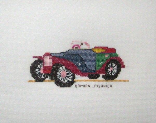 #HaftKrzyżykowy #samochód #auto