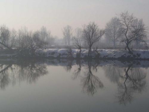 Zimowy brzeg Wisły #Kraków #Wisła #zima