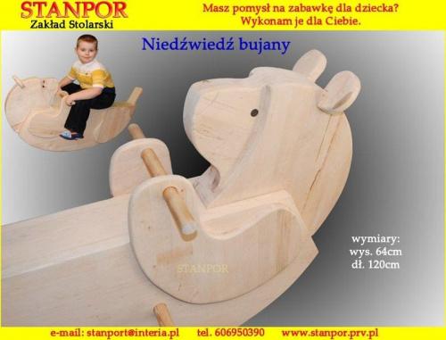 Wykonuję zabawki z drewna dla dzieci. www.stanpor.prv.pl #zabawk #IZDrewna #DlaDzieci #zakład #stolarski #stanpor #BujanyMiś #NaBiegunach