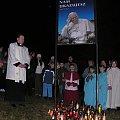 Foto. S. Nicewicz - Jan Paweł II w rocznicę śmierci - montaż słowno-muzyczny w wykonaniu młodzieży z Parafii Najświętszego Serca Jezusowego w Koźle w dniu 02-04-2008r #Swięty #Brunon #Droga #KrzyżowaKozioł #foto #nicewicz #góra #Jan