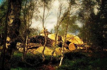słoneczne skały, Karkonosze #natura #krajobazy #skały #Karkonosze