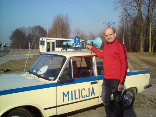 A to ja ;-) Spotkany na pętli radiowóz kolegi Andrzeja szczególy na http://www.milicja.net #milicja #Fiat125p