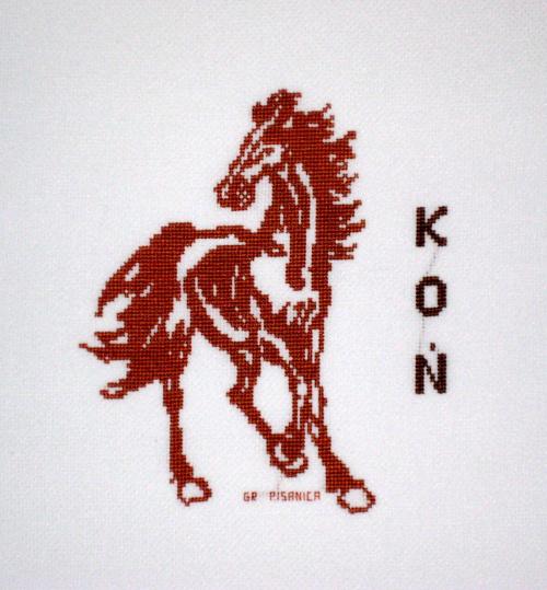 dla Nikosia, k.615 #haft #koń #HaftKrzyżykowy