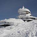 pierwszy widok..oj przykro ;-( #architektura #góry #karkonosze #katastrofa #śnieg #śnieżka #talerze #zima #żywioł