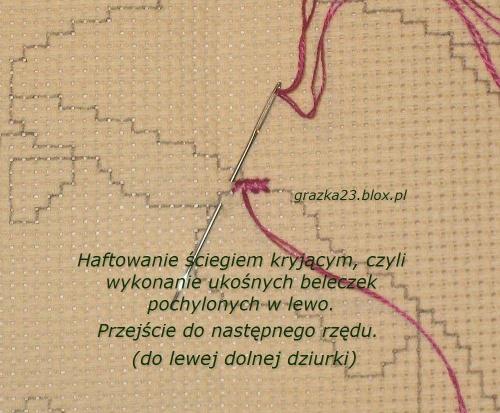haftowanie krzyżykami - ścieg kryjący #PodstawyHaftuKrzyzykowego #HaftKrzyżykowy #KursHaftuKrzyżykowego